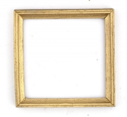 Dollhouse Brass Square Frame
