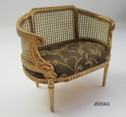 Hand-Made Dollhouse Miniature Settee