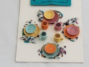 Dollhouse Miniature Dish Set-4 Place Settings