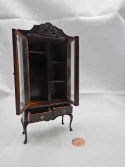 Double glass door china cabinet-WN