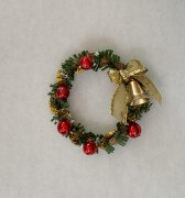 Christmas Wreath with Red Ornaments