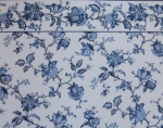 Blue Flower Wallpaper with Border