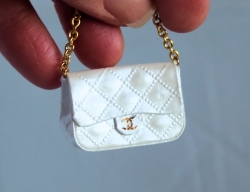 Mini Quilted Bag with Gold Chain