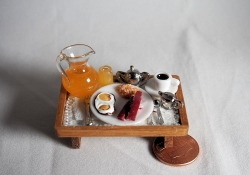 Miniature Breakfast Tray with Juice