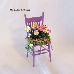Exterior Chair with Pansies