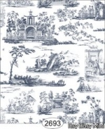 Rose Hill Toile Blue on White