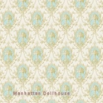 Turquoise Medallion Dollhouse Wallpaper