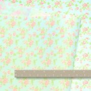 Aquapink flowers Dollhouse Fabric