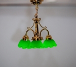 Ceiling Light with Green Shades C7G