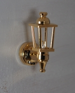 Dollhouse Brass Coach Lamp W1