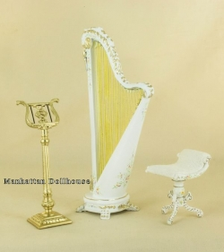 The Cupid's Dream White Harp Set by Bespaq