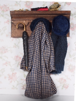 Miniature Coat Rack with Male Accessories