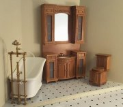 Miniature Italia Bathroom Set-Cherry Finish