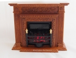 New Wood Dollhouse Fireplace