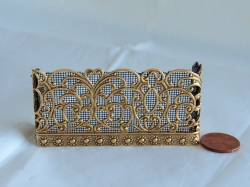 Queen Isabella Miniature Fireplace Screen in Brass