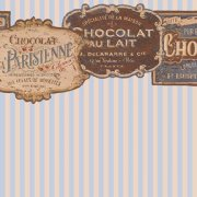 French Chocolate with Blue Stripes 599D