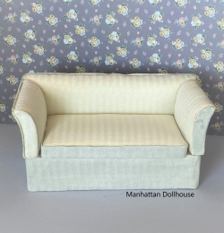 Town Square Miniatures White Loveseat