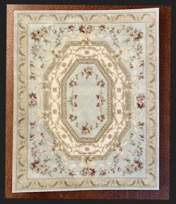 Soft Sage and Rose Miniature Rug