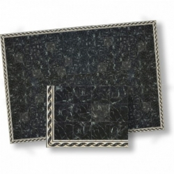 Black Faux Marble Floor Sheet
