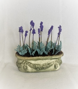Lavender in Detailed Planter