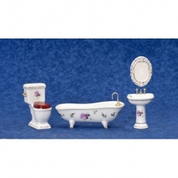 Dollhouse Miniature 4 Piece Bathroom Set T5362