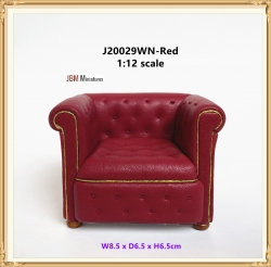 Contemporary Chesterfield ARM Chair mid 1800s Red