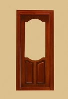 Stannford Exterior Dollhouse Door in Walnut