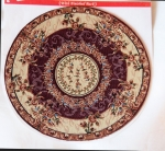 Round Medium Miniature Rug-Cranberry