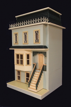 The Ashbury Front Opening Dollhouse Kit