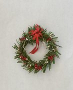 Red and White Holiday Wreath