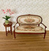 Sage Pascale Settee and Table