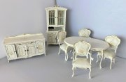 Bespaq Wildflower Dining Room Set in White