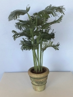 Potted Palm - Gray Vase