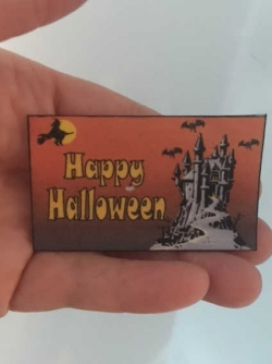 Miniature Halloween Welcome Mat