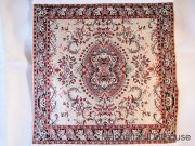 Miniature Woven Fringed Square Rug
