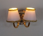 Sconce with Two White Shades WL5