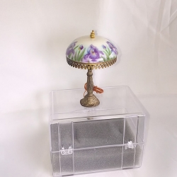 Table Lamp with Porcelain Lamp Shade-Violet