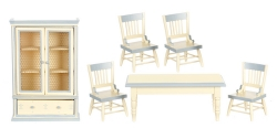 6 Piece Dining Room Set in Cream