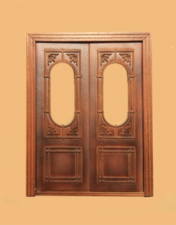 Hanover Exterior Double Door - New Walnut