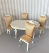 Bespaq Swanson Deco Dining Set in White