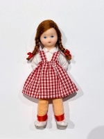 Little Girl Doll by Erna Meyer Dressed in Red Plaid