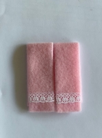 Set of 2 towels-Pink Lace