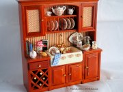 Miniature Kitchen Cabinet with Accessories