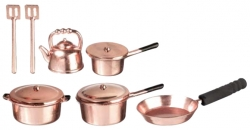Miniature Copper Metal Cookware
