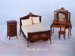 Bespaq Half Inch Scale Anastasia 4 Piece Bedroom Set