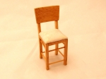 Miniature Chair in Oak and Cream Seat