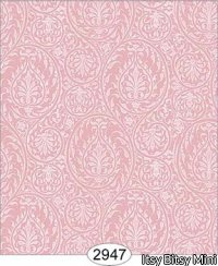 Wallpaper Birch Damask Pink Rose