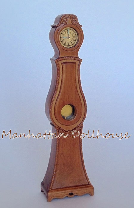 """BESPAQ MINIATURE /""""AUGUSTINA/"""" GUSTAVIAN CLOCK NEW WALNUT FINISH MM-009"""