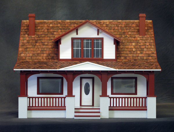 Classic Bungalow Dollhouse Kit - Click Image to Close