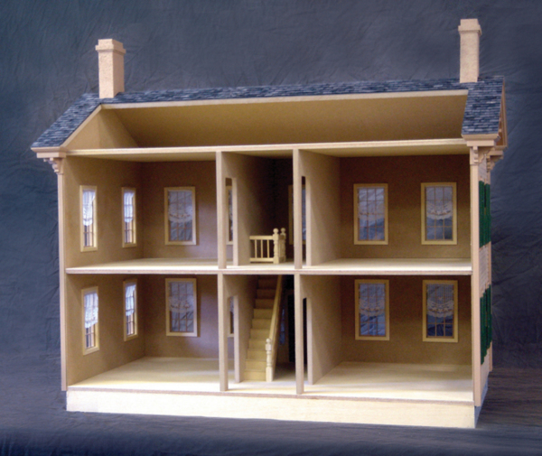 Lincoln Springfield Home Dollhouse Kit - Click Image to Close